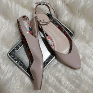 QUPID Nude Pointed Toe Ankle Strap Size 10